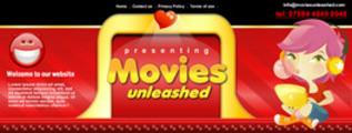 Thumbnail Movie Website Header Template