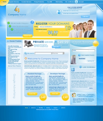 Pay for High Quality Web Hosting Template