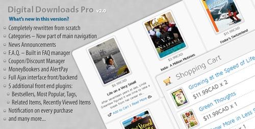 Pay for Digital Downloads Pro v.2.0 - Download Shop System