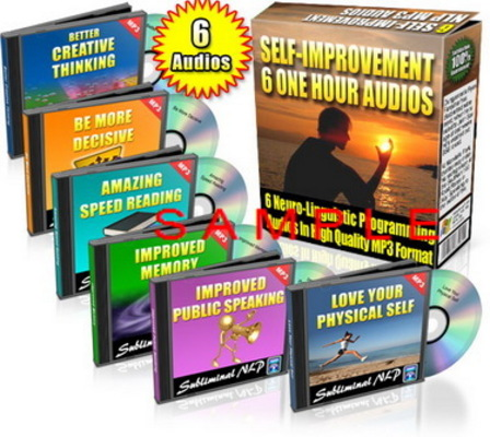 Pay for Subliminal Audio - 6 One-Hour Self Improvement Audios