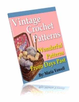 Pay for 20 Wonderful Vintage Crochet Patterns