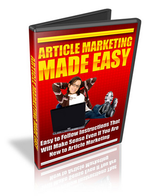 Pay for Article Marketing Made Easy Video + Master Resale Rights