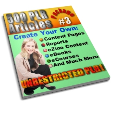 Pay for 500 Unrestricted PLR Articles Package 3