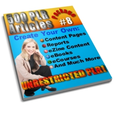 Pay for 500 Unrestricted PLR Articles Package 8