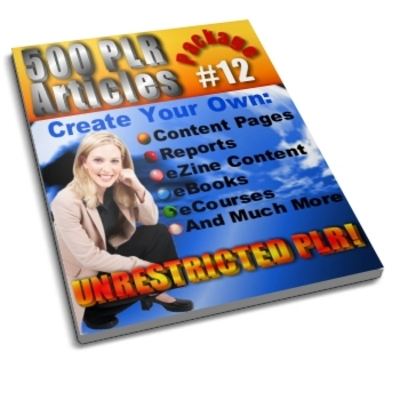 Pay for 500 Unrestricted PLR Articles Package 12