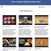 Thumbnail Candle Making Video Site Builder