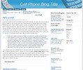 Thumbnail Wordpress Cellphone Blog Template/Theme