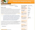 Thumbnail Wordpress Fitness related Blog Template/Theme