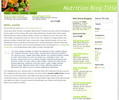 Thumbnail Wordpress nutrition related Blog Template/Theme