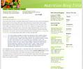 Thumbnail Wordpress nutrition related Blog Template/Theme