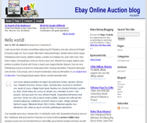 wordpress ebay related blog template theme download templates f