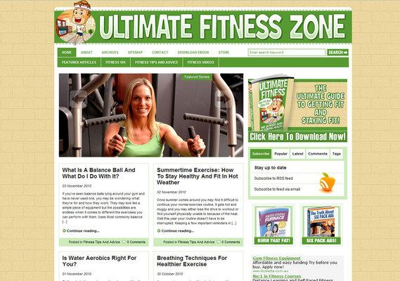 Pay for Fitness & Gesundheit Nische Wordpress Blog + Fitness eBook