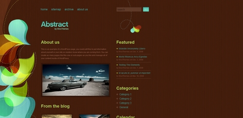 Pay for Premium Wordpress Theme Abstract From Woo Themes