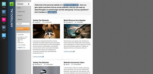 Pay for Antisocial Premium Wordpress Theme From Woo Themes