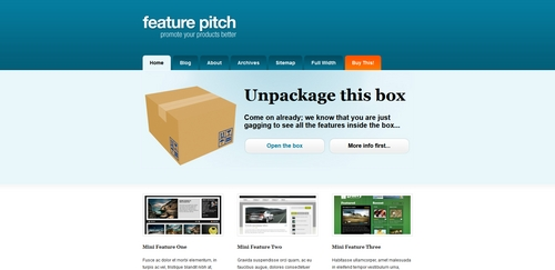 Pay for Premium Wordpress Theme Featurepitch