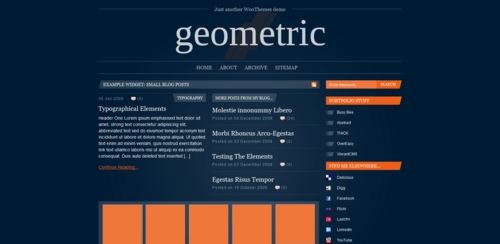 Pay for Premium Wordpress Theme Geometric
