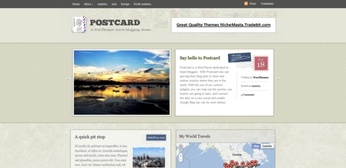 Pay for Premium Wordpress Theme Postcard