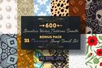 Thumbnail 600 Seamless Vector Patterns, bonus 31 Procreate brush stamp