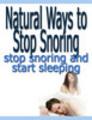 Thumbnail Natural Ways to Stop Snoring (PLR)