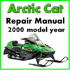 Thumbnail 2000 Arctic Cat Service Repair Manual Download