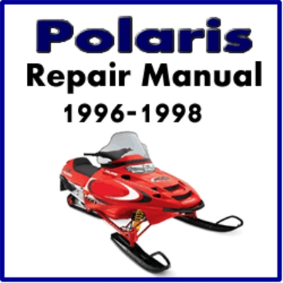 1996 1998 polaris snowmobile service repair manual tradebit