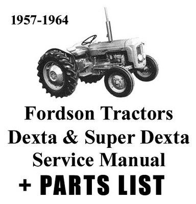 fordson dexta tractor workshop service repair manual download m rh tradebit com ford dexta parts manual fordson dexta service manual