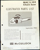 Thumbnail McCulloch 3-10, 3-10e Chain Saw Parts List - 36 Pages