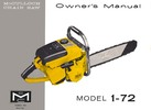 Thumbnail McCulloch 1-72 Chain Saw Owners & Operators Manual