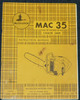 Thumbnail McCulloch MAC 35 Chain Saw Owners & Operators Manual