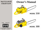 Thumbnail McCulloch 250 & 300 Chain Saw Owners & Operators Manual