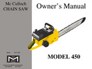 Thumbnail McCulloch 450 Chain Saw Owners & Operators Manual