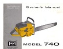 Thumbnail McCulloch 740 Chain Saw Owners & Operators Manual