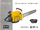 Thumbnail McCulloch BP-1 Chain Saw Owners & Operators Manual