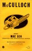 Thumbnail McCulloch D-30 Chain Saw Owners & Operators Manual