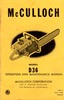 Thumbnail McCulloch D-36 Chain Saw Owners & Operators Manual