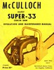 Thumbnail McCulloch Super 33 Chain Saw Owners & Operators Manual