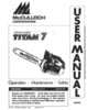 Thumbnail McCulloch Titan 7 Chain Saw Owners & Operators Manual