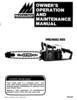 Thumbnail McCulloch PRO MAC 655 Chain Saw Owners & Operators Manual