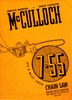 Thumbnail McCulloch 7-55 Chain Saw Owners & Operators Manual