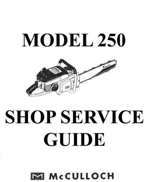 mcculloch 250 chain saw service repair guide download manuals rh tradebit com McCulloch Chainsaw Shop Manual McCulloch 3216 Chainsaw Repair Manual