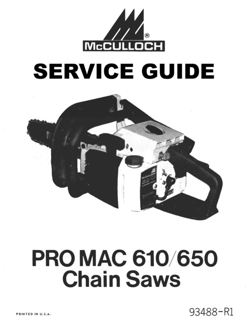 mcculloch 610 650 chain saw owners service parts package down rh tradebit com mac pro service manual 2008 mac pro 2009 service manual pdf