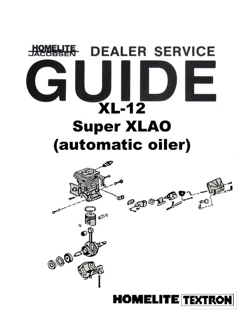 Pay For Homelite Xl 12 Chain Saw Owners Parts Service Manuals