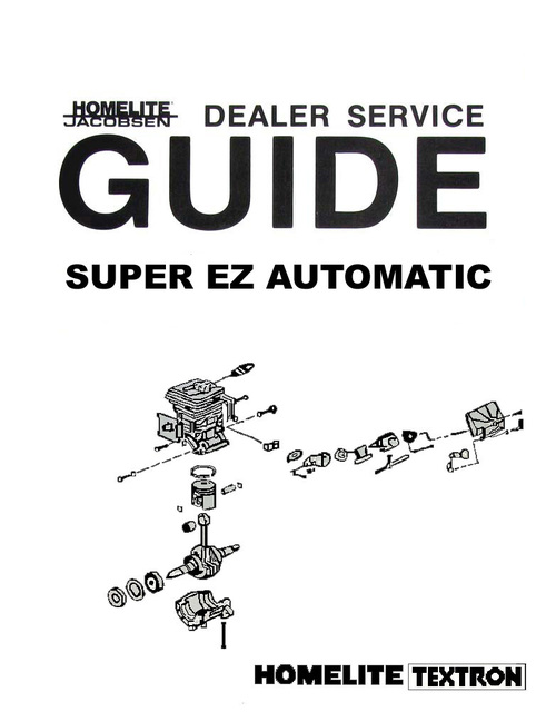 Pay for Homelite Super EZ Chain Saw Owners, Parts, & Repair Manuals