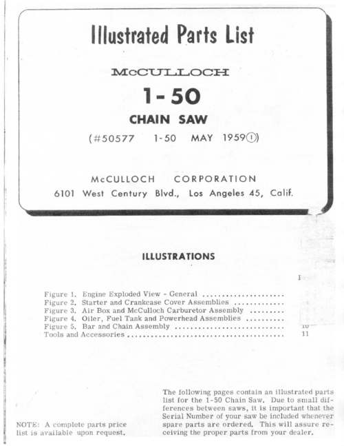 Mcculloch chainsaw serial number lookup | SOLVED: How to