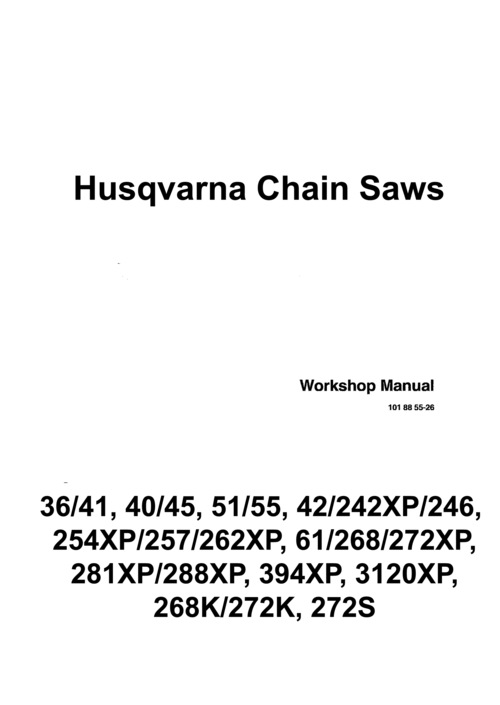 Pay for Husqvarna 22 Saw Package - Owners, Service-Repair, Parts