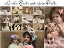 Thumbnail 12 Vintage Clip Art Photos of Little Girls and Their Dolls