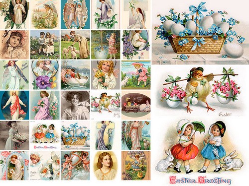 Pay for 30 Vintage Easter Illustrations