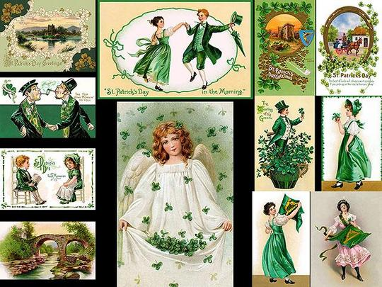 12 Vintage St Patricks Day Illustrations