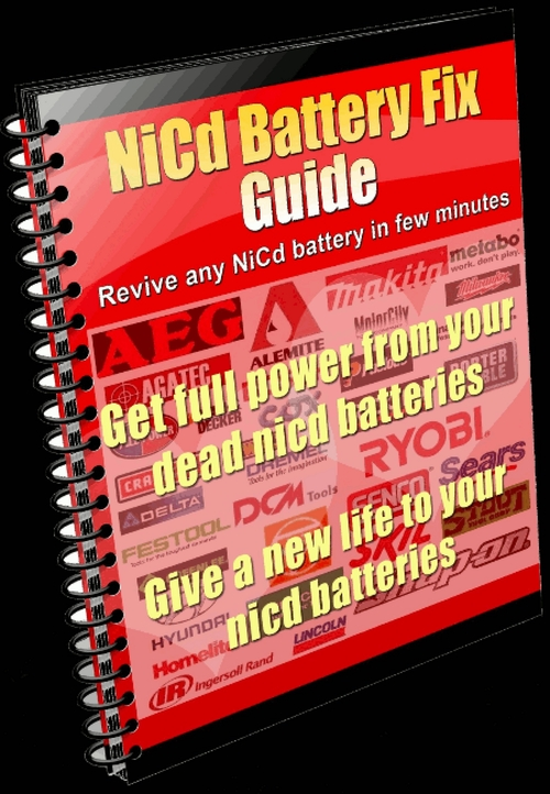Pay for Dynamite NiCd Battery Repair Instructions Fix NiCad Battery