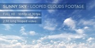 Thumbnail Sunny Sky and Clouds Stock Footage